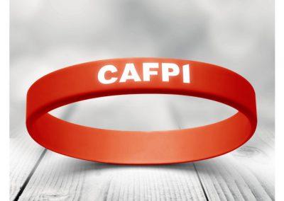 Bracelet en silicone avec incrustation texte et couleur pour CAFPI