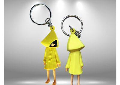 Porte-clés figurine Little Nightmares en PVC injecté Full 3D