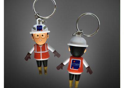 Porte-clés figurine personnalisé en PVC injecté Full 3D VINCI CITINEA