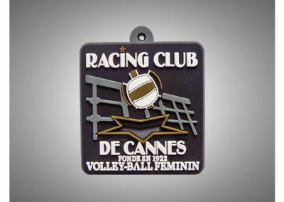 Porte-clés PVC souple relief 2D Racing Club de Cannes
