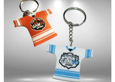 Porte-clés PVC souple relief 3D Hockey sur glace GAMYO