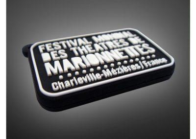 Porte-clés PVC souple relief 2D FESTIVAL MONDIAL DE LA MARIONNETTE
