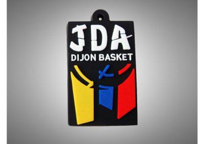 Porte-clés PVC souple relief 2D JDA BASKET DIJON