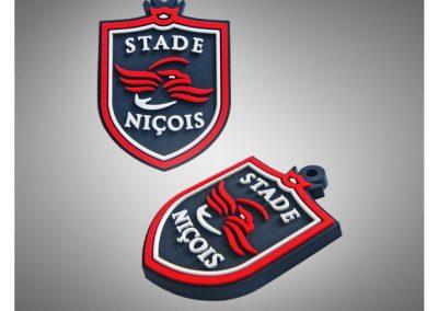 Porte-clés PVC souple relief 2D STADE NICOIS RUGBY