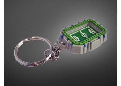 Porte-clés en PVC injecté souple relief 3D STADE DUGAUGUEZ SEDAN CSSA FC