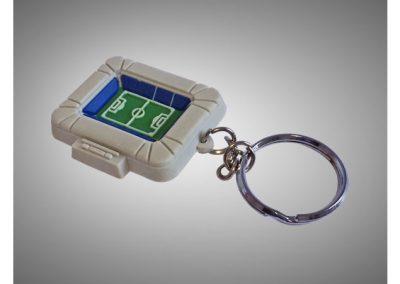 Porte-clés en PVC injecté souple relief 3D STADE BONAL SOCHAUX FC