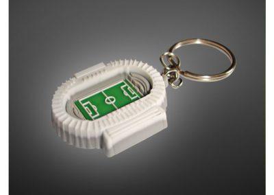 Porte-clés en PVC injecté souple relief 3D STADIUM TOULOUSE FC