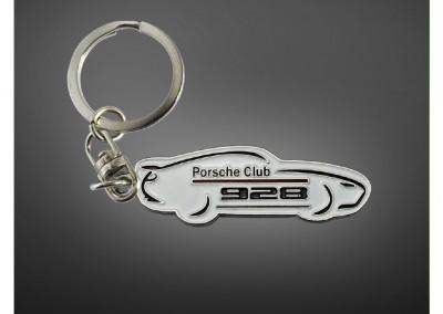 Porte-clés en métal émaillé Club Porsche 928 France