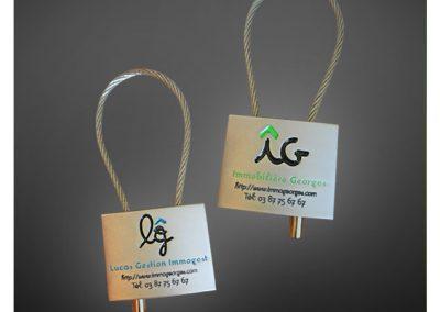 Porte-clés personnalisé en métal émaillé 3D - Enamel keychain 3D