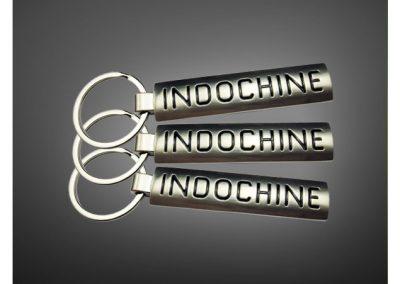 Porte-clés personnalisé en métal émaillé 3D GROUPE INDOCHINE - Enamel keychain 3D