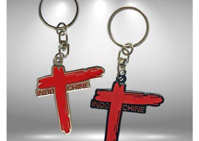 Porte-clés personnalisé en métal émaillé 2D GALERIE INDOCHINE - Enamel keychain 2D