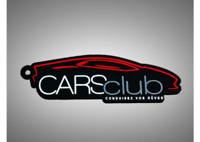 Porte-clés-PVC-2D-Cars-Club