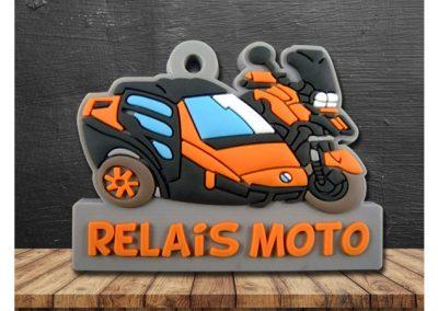 Porte-clés-PVC-2D-Relais-Moto