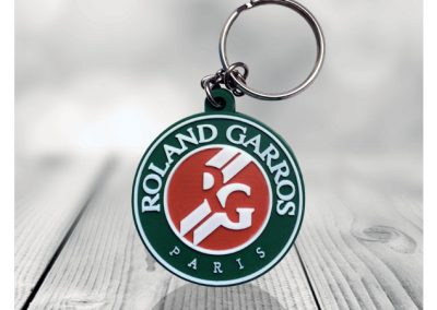 Porte-clés-PVC-2D-Roland-Garros