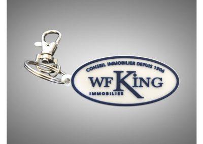 Porte-clés-PVC-2D-WF-KING