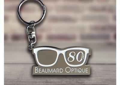 Porte-clés-en-métal-émaillé-OPTIQUE-BEAUMARD
