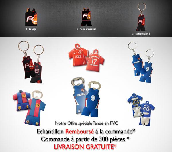 Porte-clés PVC tenue 2D ou 3D