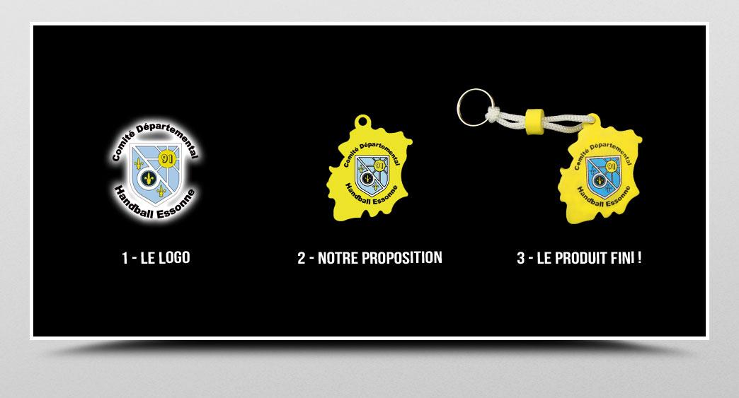 porte-clef mousse eva personnalisé