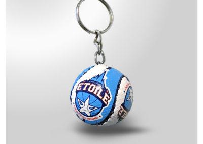 Porte-clés personnalisé Ballon de basketball imitation cuir
