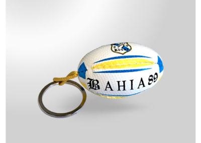 Porte-clés personnalisé Ballon de rugby imitation cuir