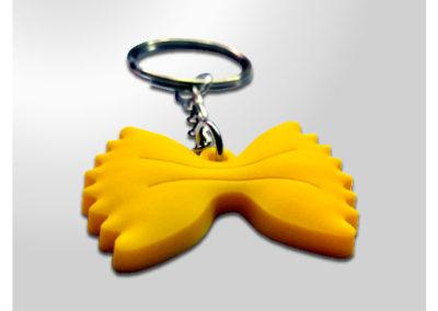 Porte-clés personnalisé en PVC souple injecté relief 2D