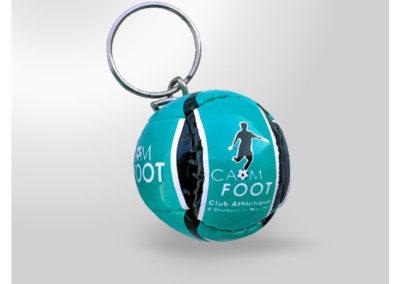 Porte-clés personnalisé Ballon de football imitation cuir