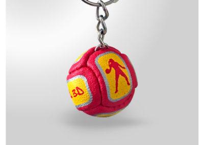Porte-clés-Ballon-de-HAND-imitation-cuir
