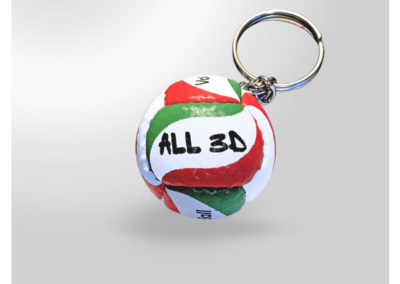 Porte-clés-Ballon-de-Volley2-imitation-cuir