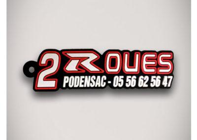 Porte-clés-PVC-2D-2ROUES