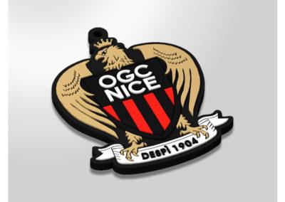 Porte-clés-PVC-2D-OGC-NICE-BLACK