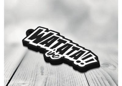 Porte-clés-PVC-2D-WATATA