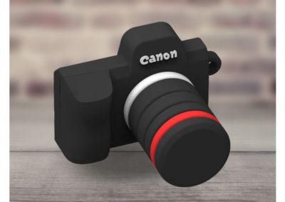 Porte-clés-PVC-3D-appareil-photo