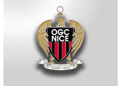 Porte-clés-métal-émaillé-OGC-NICE