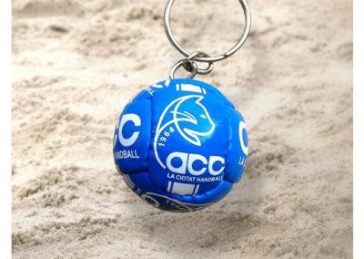 Porte-clés-ballon-imitation-cuir-de-Handball-ACC-HB-LA-CIOTAT