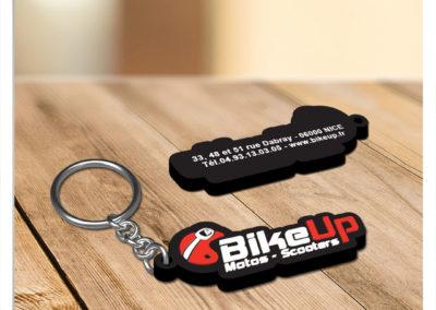 Porte clés personnalisé en PVC souple relief 2D