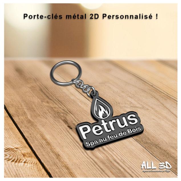 Porte-clés personnalisé en métal émaillé 2D - Enamel keychain 2D