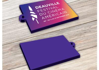 Porte-clés PVC souple imprimé Festival de Deauville