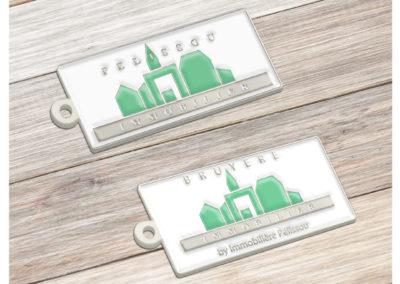 Porte-clés en métal émaillé 2D - Enamel Keychain
