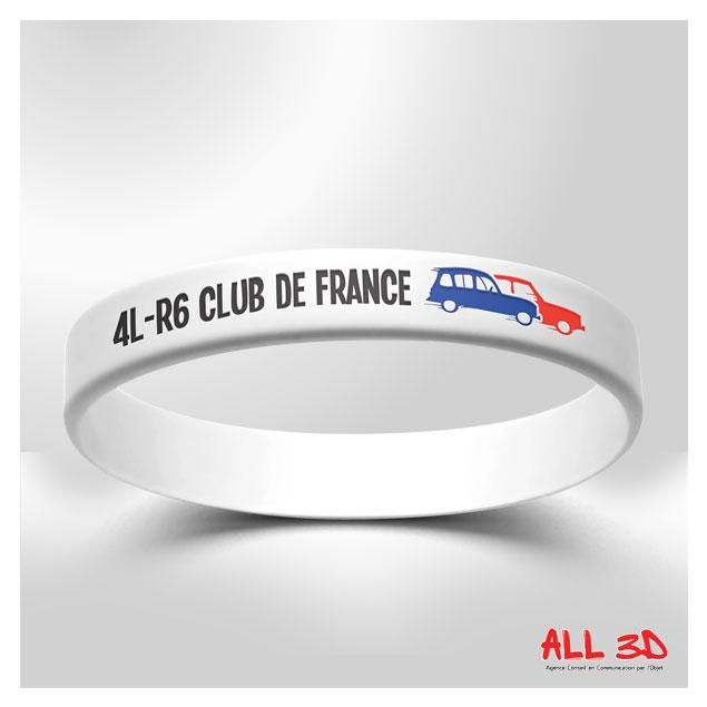 Bracelet en silicone avec incrustation texte et couleur