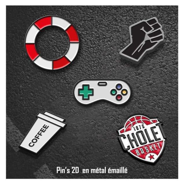 Pin's 2D en métal émaillé