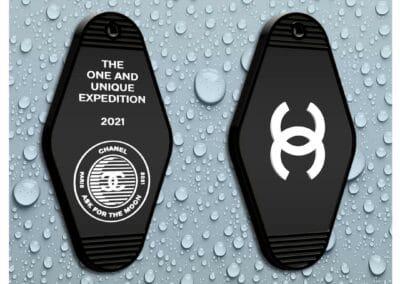 Porte-clés Motel en PVC souple relief 2D double face