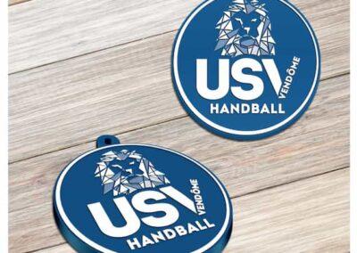 Porte-clés personnalisé PVC souple relief 2D USV HANDBALL