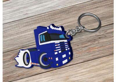 Porte clés PVC souple injecté relief 2D - PVC Keychain 2D