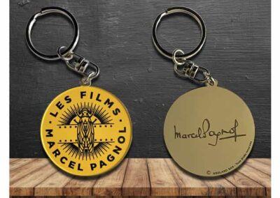 Porte-clés en métal émaillé 2D Marcel PAGNOL