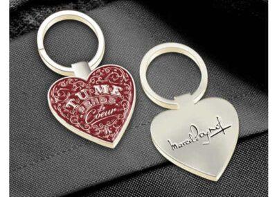 Porte-clés métal émaillé 2D Marcel Pagnol - Enamel keychain 2D